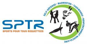 infos-prattiqueslogo sptr et illustration des activités sportives proposées
