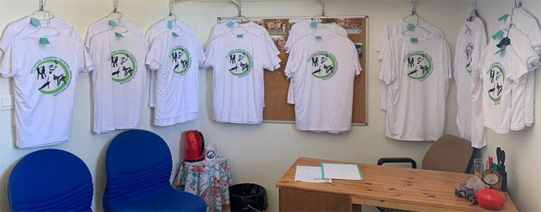 photo des T-Shirts SPTR créés pour la saison 2020