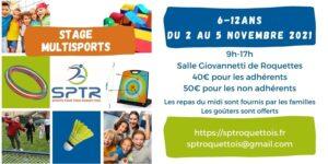 Read more about the article Stage multisport vacances de Toussaint 2021